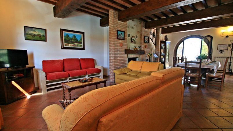 Hillside stone Villa Susino Rosso Tuscany Siena 33