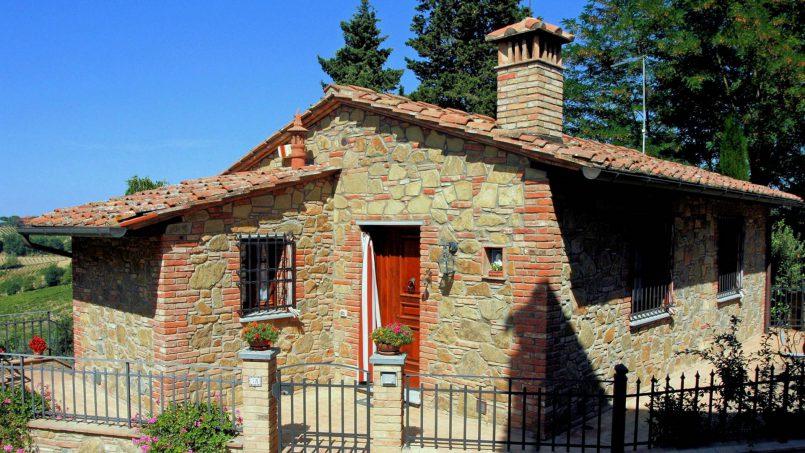 Stone built house Brunello Tuscany Siena 1