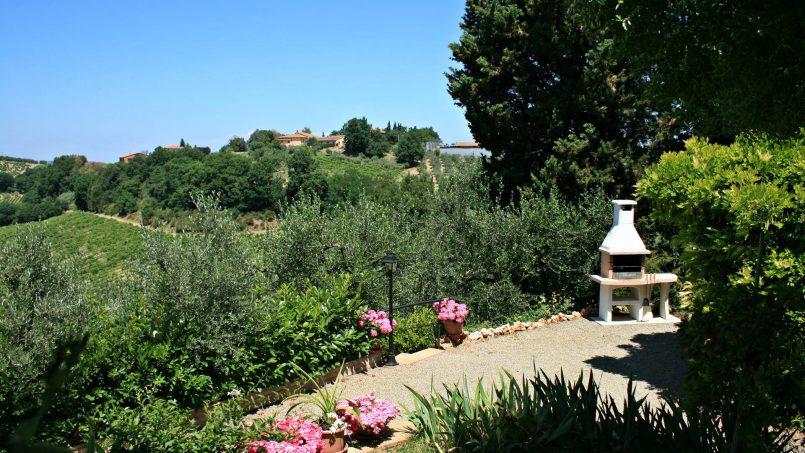 Stone built house Brunello Tuscany Siena 22