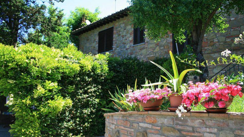 Stone built house Brunello Tuscany Siena 4