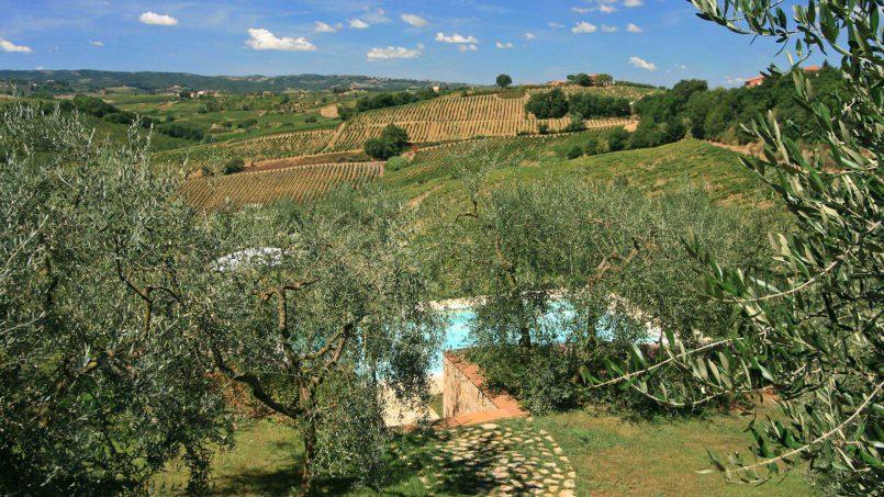 Stone built house Brunello Tuscany Siena 7