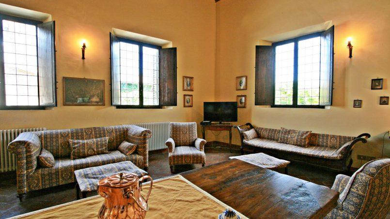 Hillside former convent Villa Dora Tuscany Siena 30