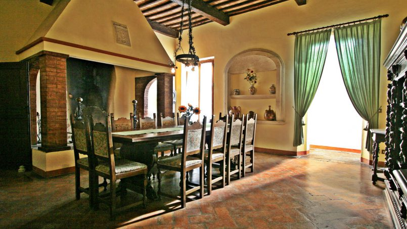 Hillside former convent Villa Dora Tuscany Siena 48