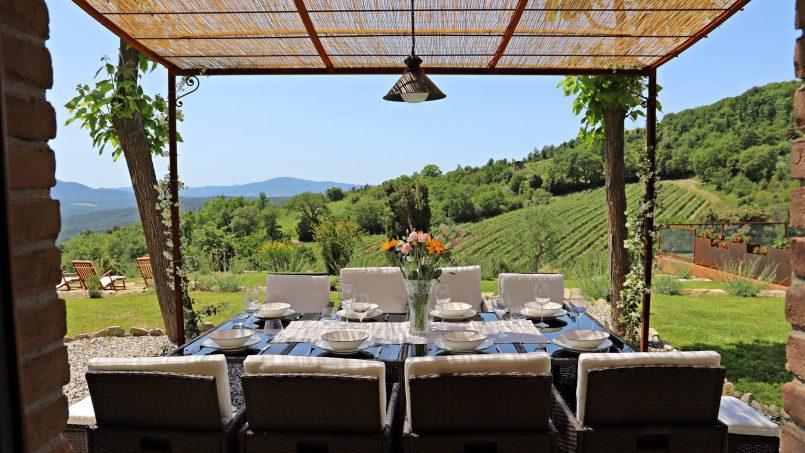Hillside stone house Villa Frida VI Tuscany Montecatini 15
