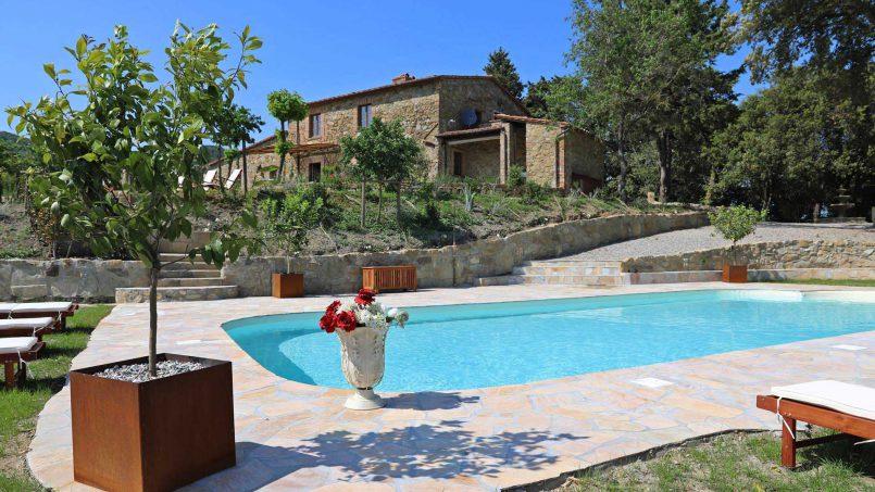 Hillside stone house Villa Frida VI Tuscany Montecatini 19