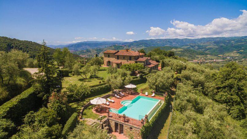 Hillside historic Villa Monsignore Tuscany Monsummano 1