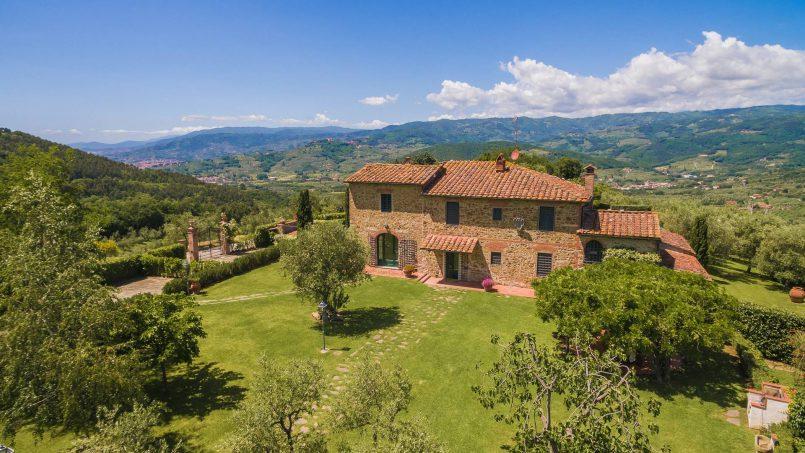 Hillside historic Villa Monsignore Tuscany Monsummano Terme 2