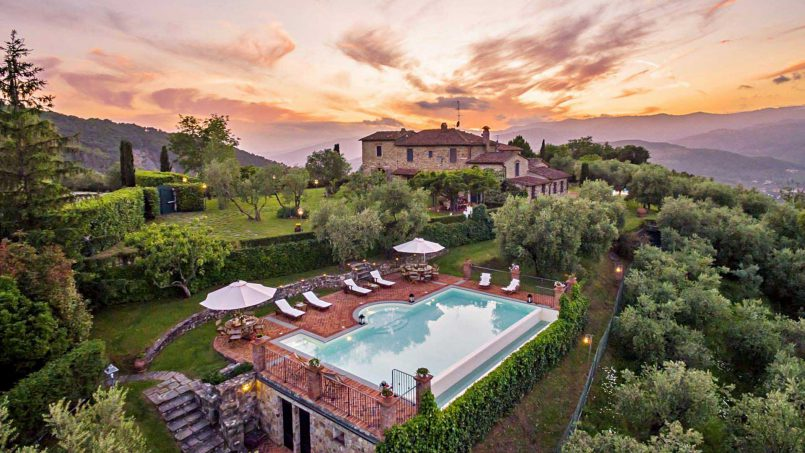 Hillside historic Villa Monsignore Tuscany Monsummano 20