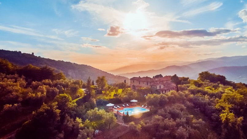 Hillside historic Villa Monsignore Tuscany Monsummano Terme 21
