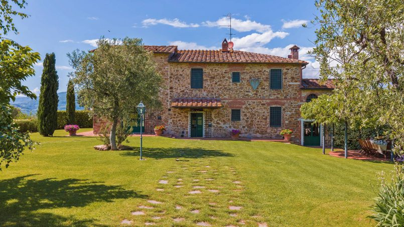 Hillside historic Villa Monsignore Tuscany Monsummano Terme 3