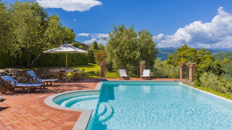 Hillside historic Villa Monsignore Tuscany Monsummano Terme 5