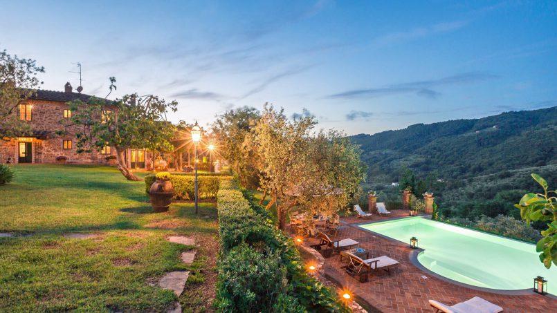 Hillside historic Villa Monsignore Tuscany Monsummano Terme b