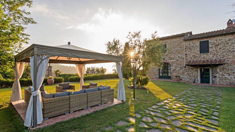 Hillside historic Villa Monsignore Tuscany Monsummano Terme e