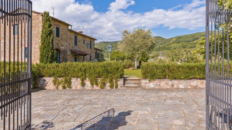 Hillside historic Villa Monsignore Tuscany Monsummano Terme f