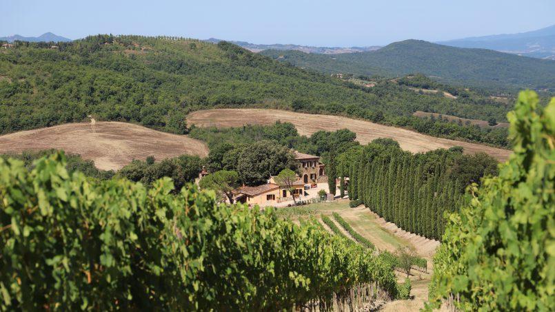 Hillside stone built Villa Insieme XVI Tuscany Siena 3