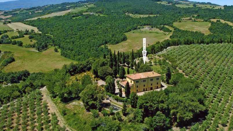 Elegant hillside Villa Val d'Orcia Tuscany Siena Radicondoli 14