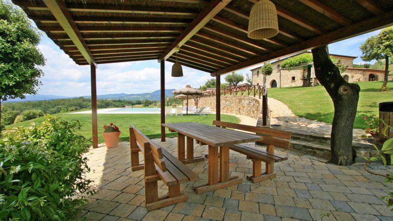 Stone farmhouse Villa Simpatia Tuscany Bibbiena 1