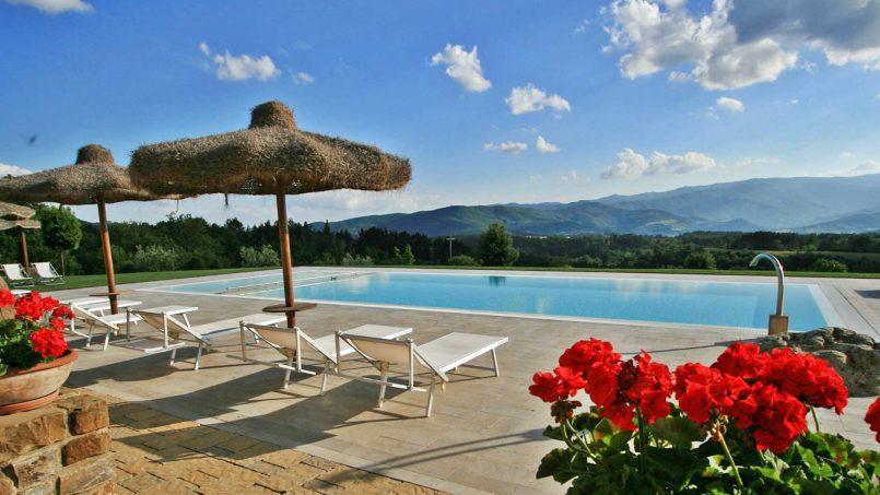 Stone farmhouse Villa Simpatia Tuscany Bibbiena 10