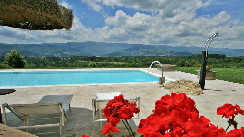Stone farmhouse Villa Simpatia Tuscany Bibbiena 11