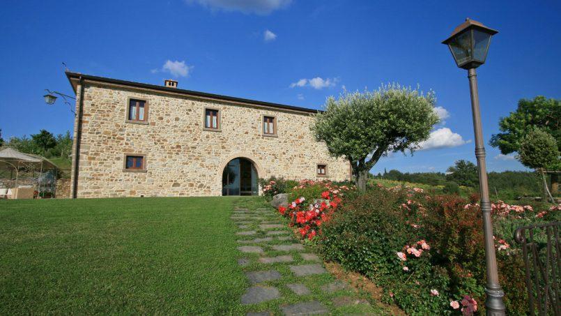 Stone farmhouse Villa Simpatia Tuscany Bibbiena 13