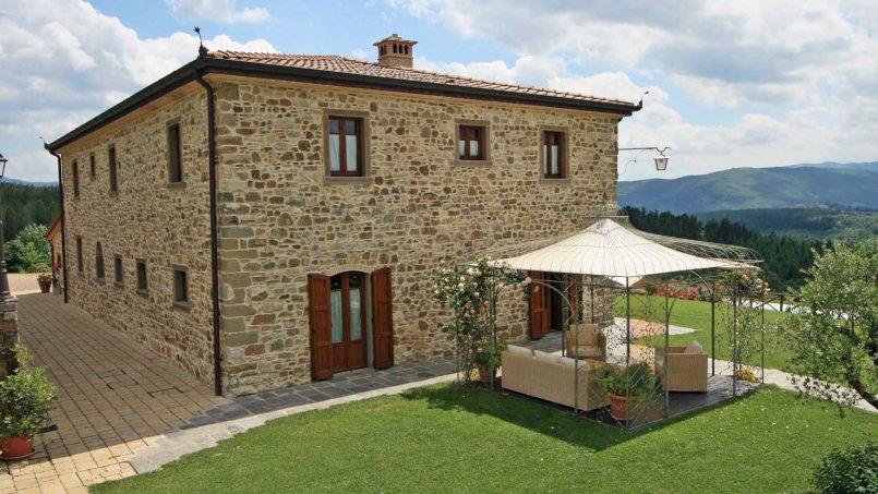 Stone farmhouse Villa Simpatia Tuscany Bibbiena 17