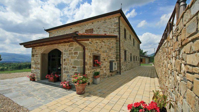 Stone farmhouse Villa Simpatia Tuscany Bibbiena 21