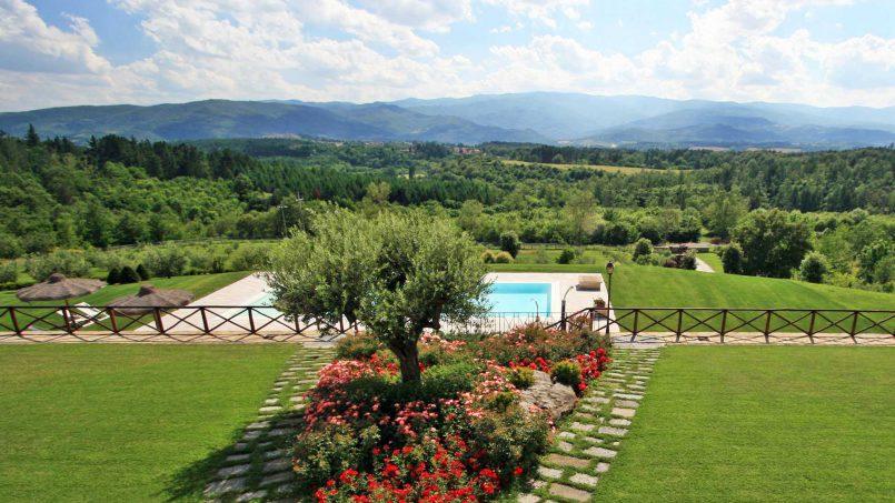 Stone farmhouse Villa Simpatia Tuscany Bibbiena 32