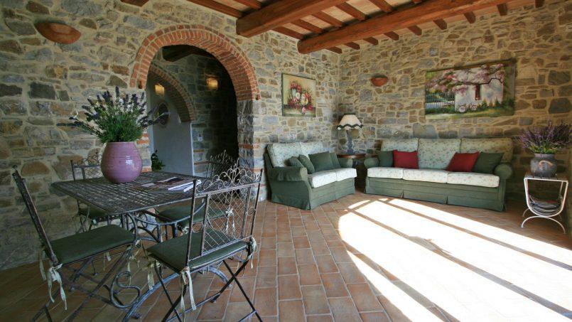 Stone farmhouse Villa Simpatia Tuscany Bibbiena 36