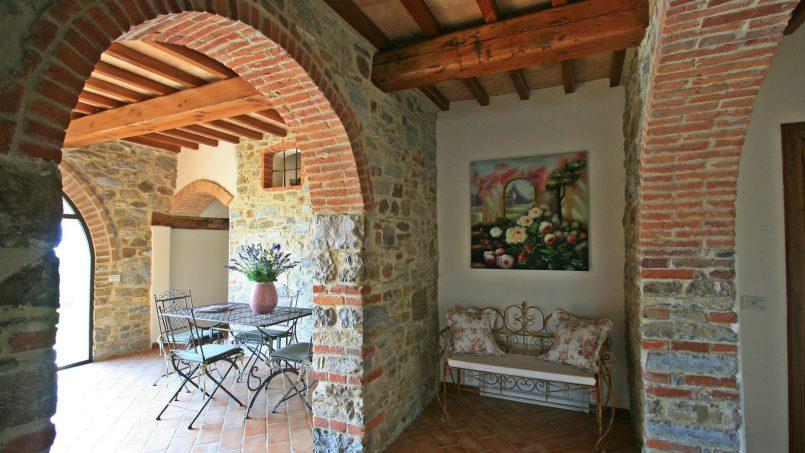 Stone farmhouse Villa Simpatia Tuscany Bibbiena 38