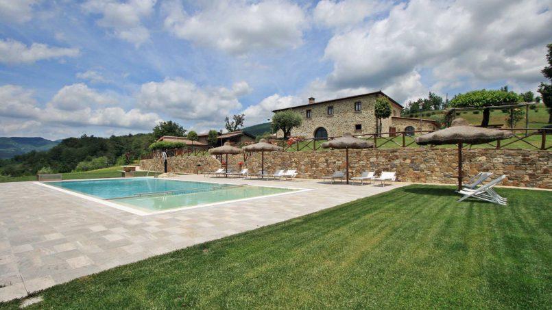 Stone farmhouse Villa Simpatia Tuscany Bibbiena 4