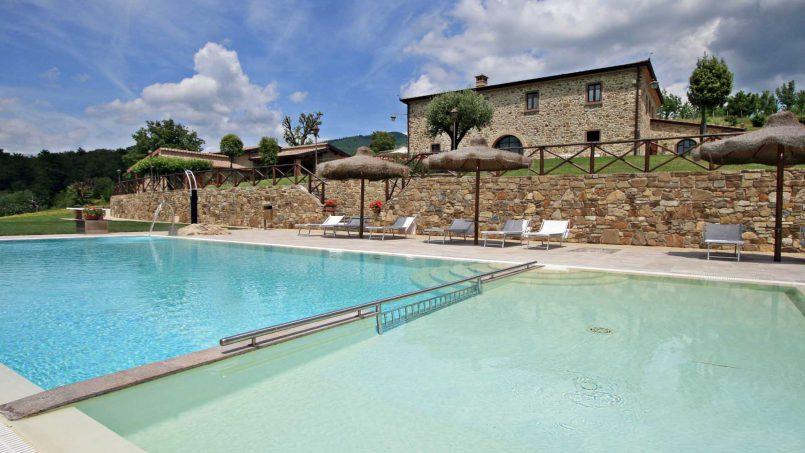 Stone farmhouse Villa Simpatia Tuscany Bibbiena 8