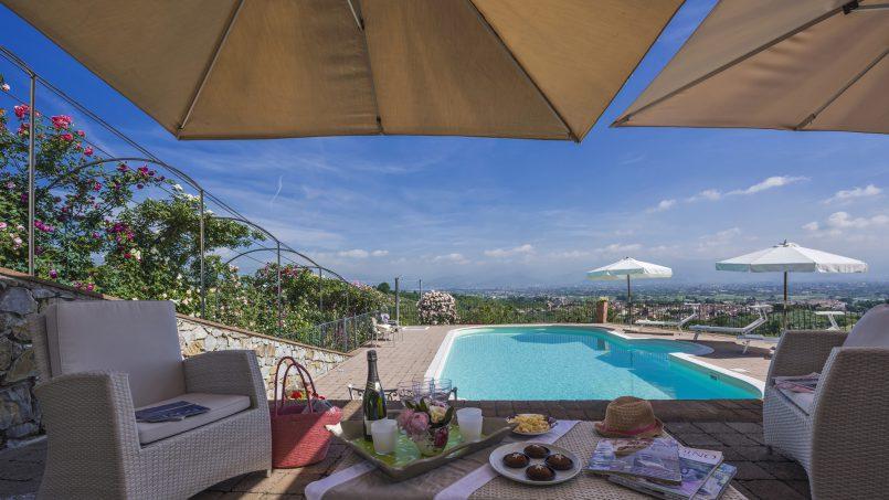 Hillside country house Villa il Roseto Tuscany Casalguidi 41