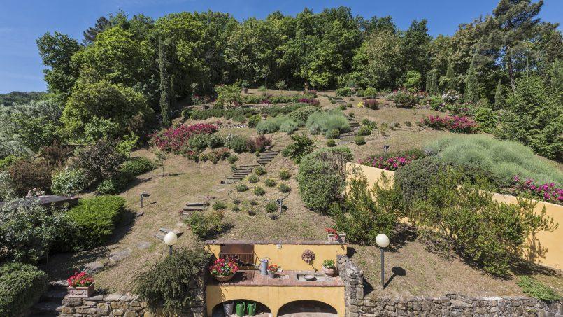 Hillside country house Villa il Roseto Tuscany Casalguidi 47