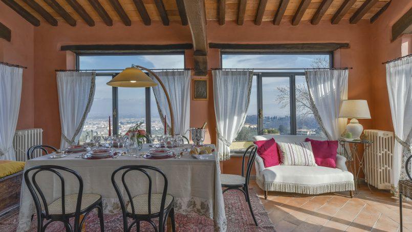 Hillside country house Villa il Roseto Tuscany Casalguidi 5