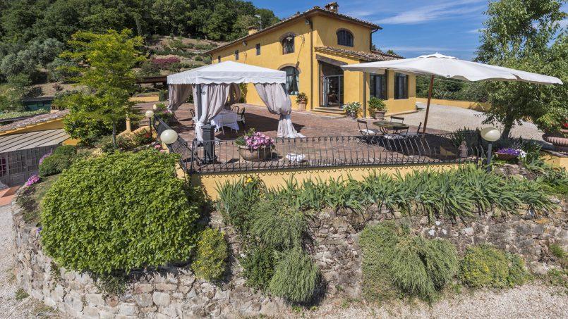 Hillside country house Villa il Roseto Tuscany Casalguidi 50