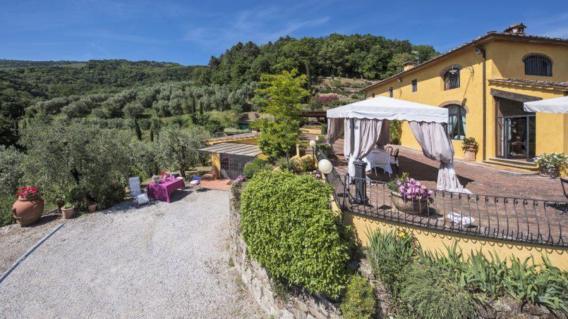 Hillside country house Villa il Roseto Tuscany Casalguidi 51