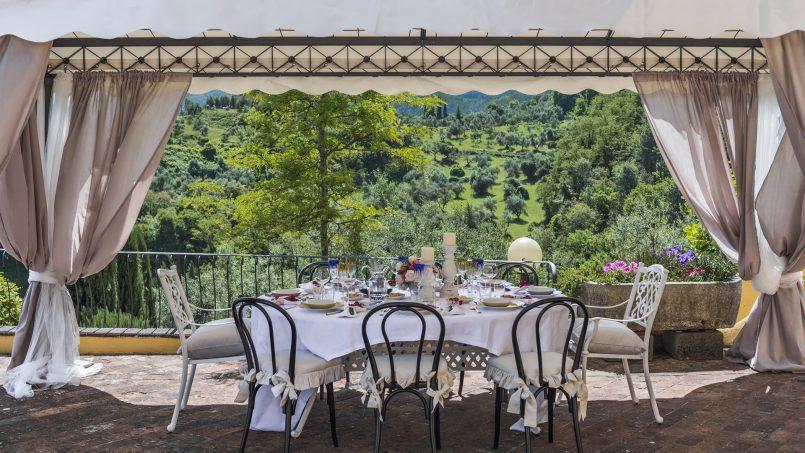 Hillside country house Villa il Roseto Tuscany Casalguidi 65