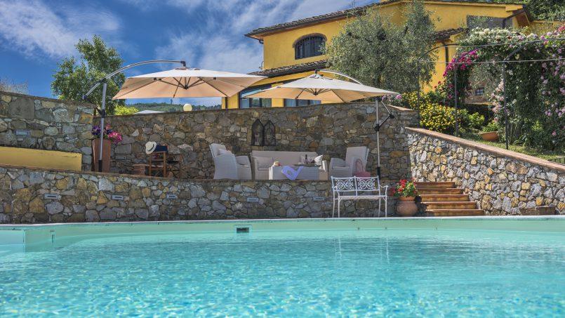 Hillside country house Villa il Roseto Tuscany Casalguidi 68