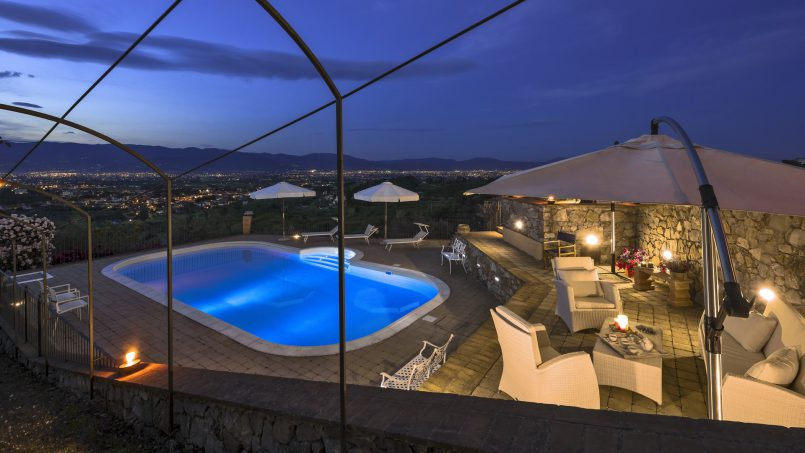 Hillside country house Villa il Roseto Tuscany Casalguidi 74
