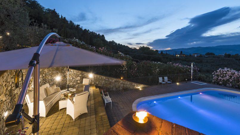 Hillside country house Villa il Roseto Tuscany Casalguidi 75