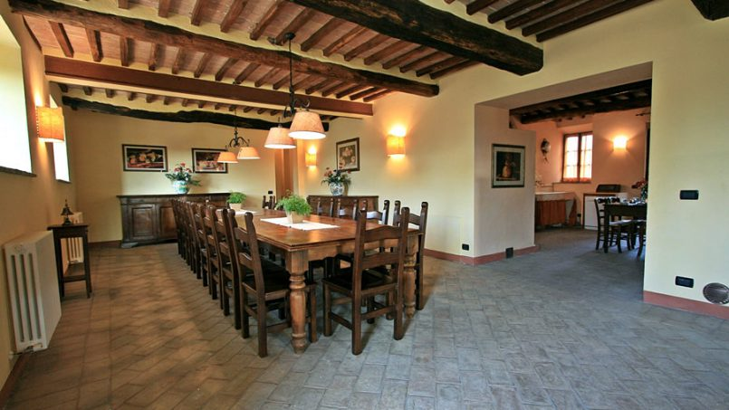 Stone farmhouse Villa Montebello Tuscany Montalcinello 70