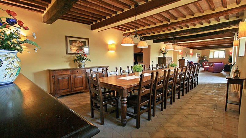 Stone farmhouse Villa Montebello Tuscany Montalcinello 71