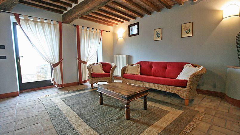 Stone farmhouse Villa Montebello Tuscany Montalcinello 83