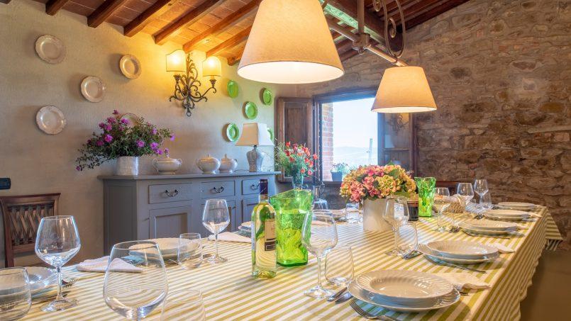 Built in stone house Villa Giovanna Tuscany Bucine 27