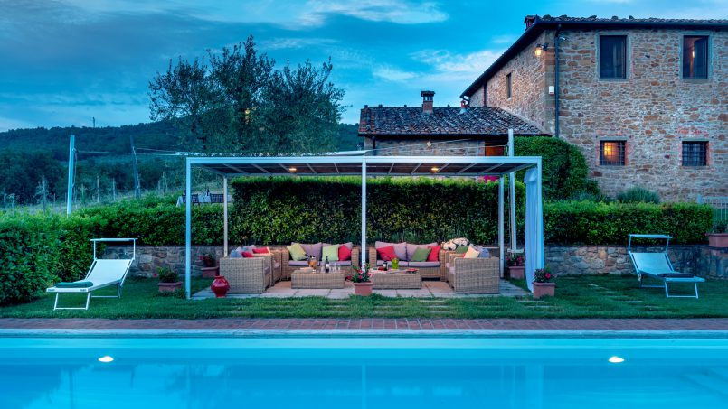 Built in stone house Villa Giovanna Tuscany Bucine 31