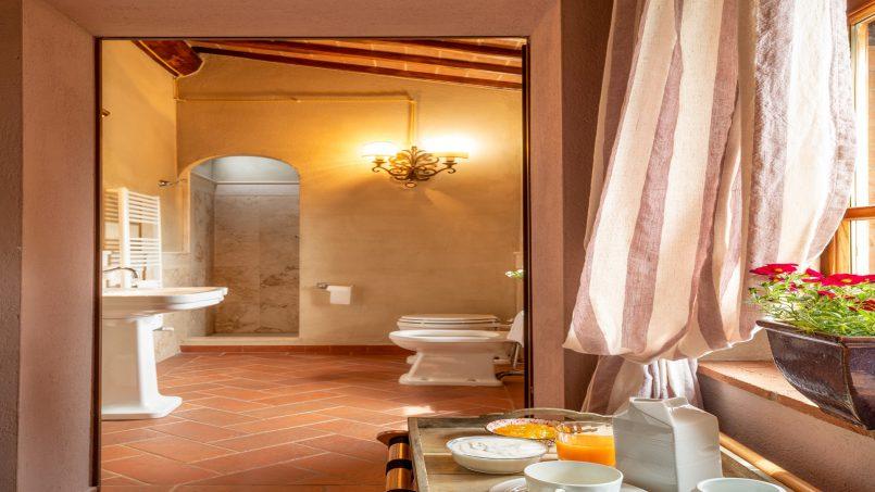 Built in stone house Villa Giovanna Tuscany Bucine 40