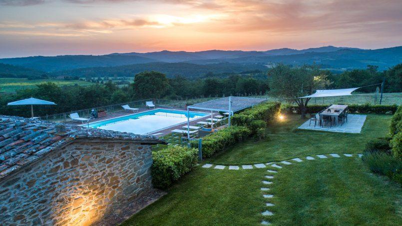 Built in stone house Villa Giovanna Tuscany Bucine 46