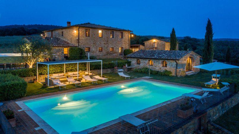 Built in stone house Villa Giovanna Tuscany Bucine 48