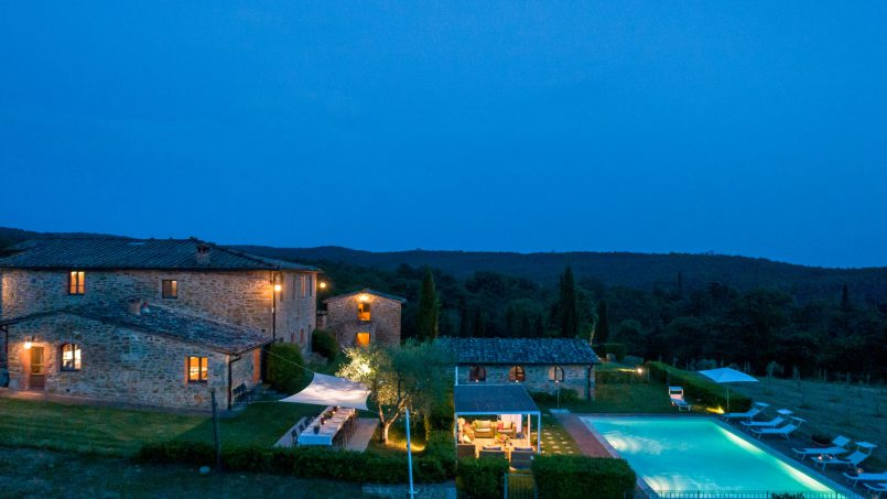 Built in stone house Villa Giovanna Tuscany Bucine 51