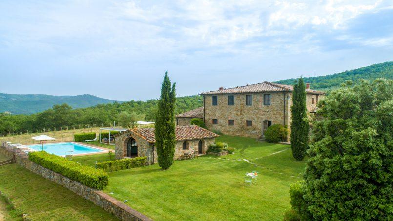 Built in stone house Villa Giovanna Tuscany Bucine 52